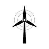 Wind turbine green energy. Icon vector illustration graphic design Stock Photos