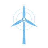 Wind turbine green energy. Icon vector illustration graphic design Stock Photography