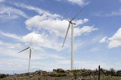 Wind Turbine. In the high mountains Royalty Free Stock Images
