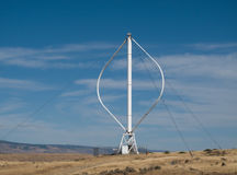 Wind Turbine on Hillside Royalty Free Stock Images