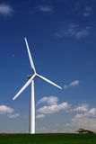 Wind turbine on a hillside Royalty Free Stock Images