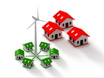 Wind turbine for homes. Wind turbine for home and green power Royalty Free Stock Images