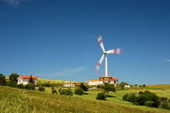 Wind turbine and houses Stock Image