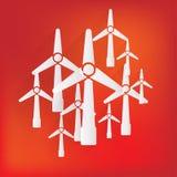 Wind turbine icon, eco concept Royalty Free Stock Photo
