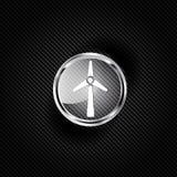 Wind turbine icon, eco concept Royalty Free Stock Image