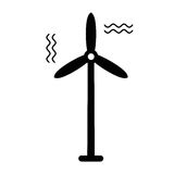 Wind turbine icon Royalty Free Stock Photo