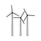 wind turbine icon image Royalty Free Stock Images