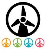 Wind turbine icon Stock Image