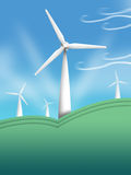 Wind Turbine Illustration. Clean Energy concept Royalty Free Stock Images