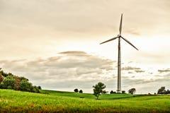 Free Wind Turbine In Spring Meadow Stock Photo - 23637470