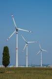 Wind Turbine. Industrial wind turbine in Tuscany Stock Photo