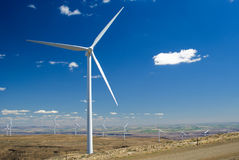 Wind turbine installation Stock Images