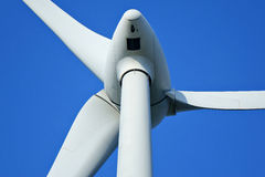 Wind turbine. Isolated on blue sky Stock Photography