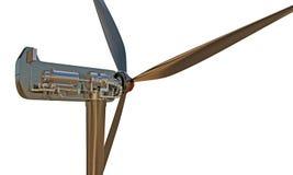 Wind turbine. Isolated on white background royalty free illustration