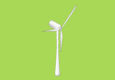 Wind turbine isometric flat vector Royalty Free Stock Image