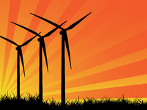 Wind turbine landscape Royalty Free Stock Photo