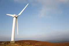Wind turbine landscape Stock Image