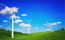 Wind Turbine Landscape Royalty Free Stock Image