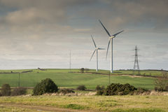 Wind-Turbine-Landschaft stockfotos