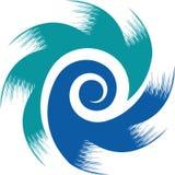 Wind turbine logo stock images