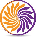 Wind turbine logo royalty free stock images