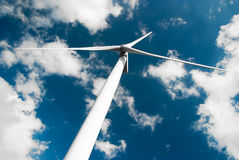 Wind turbine low angle Royalty Free Stock Photography