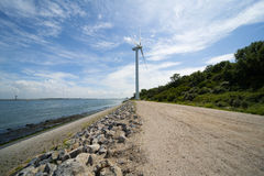 Wind turbine Maasvlakte Rotterdam Stock Photo