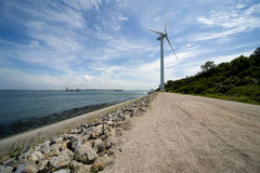 Wind turbine Maasvlakte Rotterdam Royalty Free Stock Images