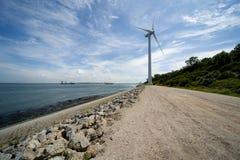 Wind turbine Maasvlakte Rotterdam Royalty Free Stock Images