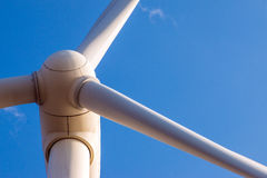 Wind turbine main rotor Royalty Free Stock Images