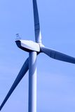 Wind turbine. Modern sleek beauty of the environmentally sound source of power Stock Photos
