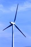 Wind turbine. Modern sleek beauty of the environmentally sound source of power Stock Images