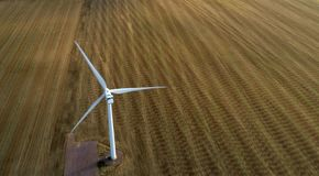 Wind Turbine in Motion royalty free stock image