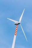 Wind turbine in movement Royalty Free Stock Image