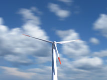Wind Turbine with moving clouds on background Royalty Free Stock Photography