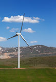 Wind turbine at nice spring day Stock Photography