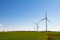 Wind Turbine On Blue Sky Stock Photos