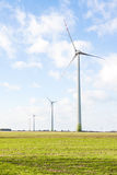 Wind turbine. In the open Royalty Free Stock Image