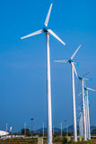 Wind turbine on the over the blue sky. The Wind turbine on the over the blue sky Stock Photos