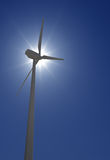 Wind Turbine over sun shine Royalty Free Stock Images