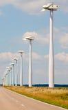 Wind turbine park Stock Photos