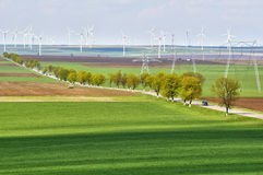 Wind turbine park Stock Photo