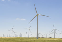 Wind turbine park Royalty Free Stock Images