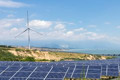 Renewable energy landscape Royalty Free Stock Photos