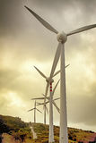 Wind turbine. Plant in mountain Stock Photography