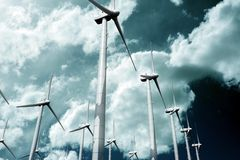 Wind Turbine Plantation Stock Photos