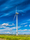 Wind turbine in polder, Netherlands Stock Photography