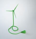 Wind turbine power cord Stock Photos