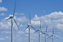 Wind turbine power farm Royalty Free Stock Photos