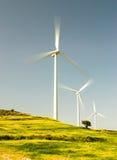Wind turbine power farm Stock Image